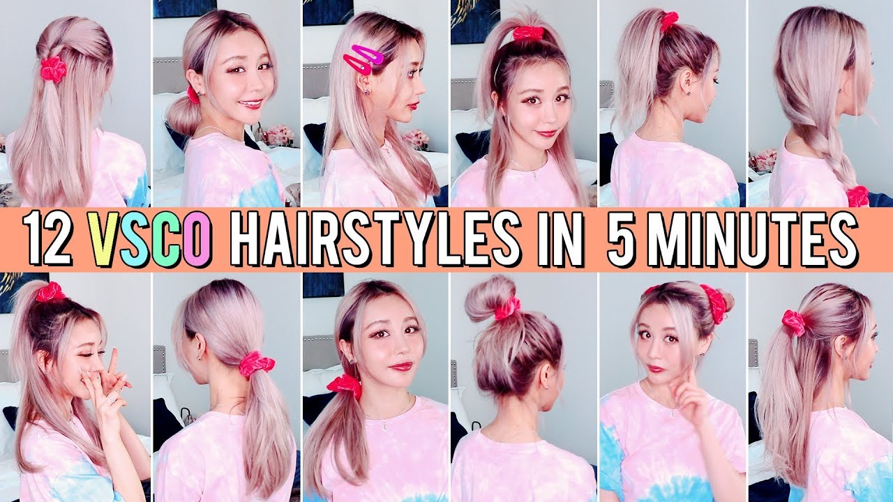 5 Minute Cute & Easy VSCO Hairstyles For Back to School!