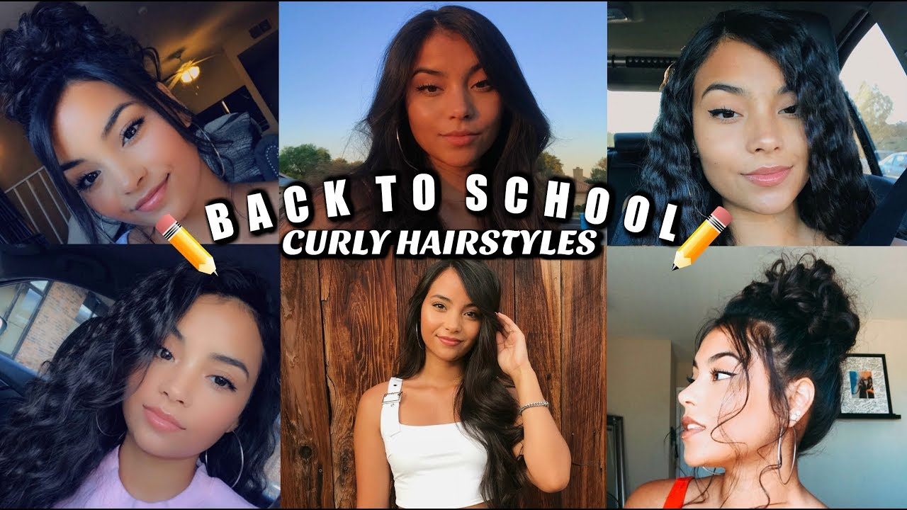 6 Easy Back To School Curly Hair Styles! | MontoyaTwinz