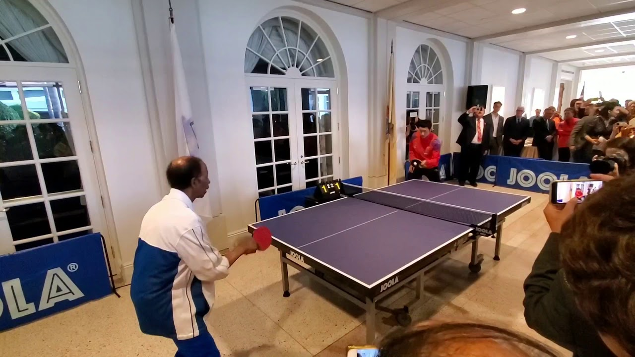 85 Year Old Table Tennis Player vs. World Number 1