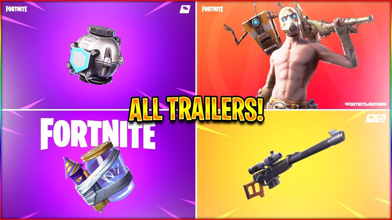 *ALL* Season 10 Fortnite Trailers! (Shield Bubble, Mayhem, Junk Rift) in HD!