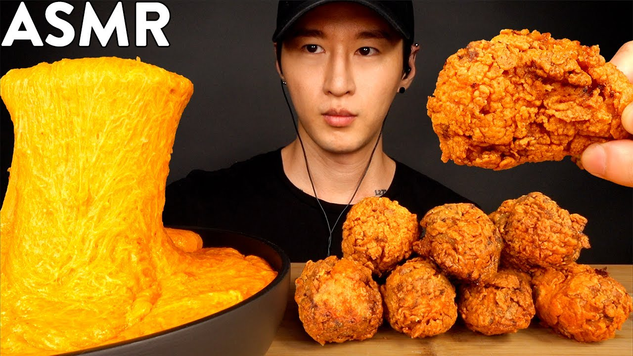 ASMR NUCLEAR FIRE STRETCHY CHEESE & CHICKEN WINGS MUKBANG (No Talking) COOKING & EATING SOUN