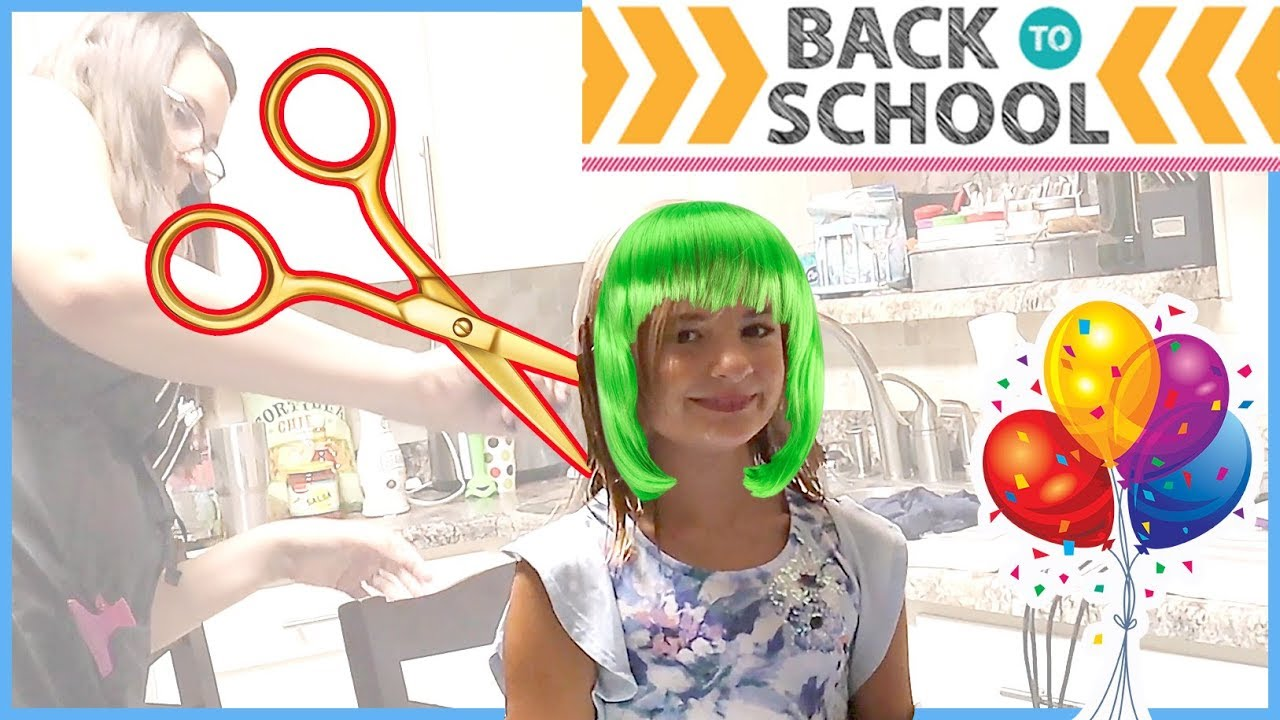 BACK TO SCHOOL HAIRCUTS! 4th GRADER MAKES A HUGE CHANGE!!