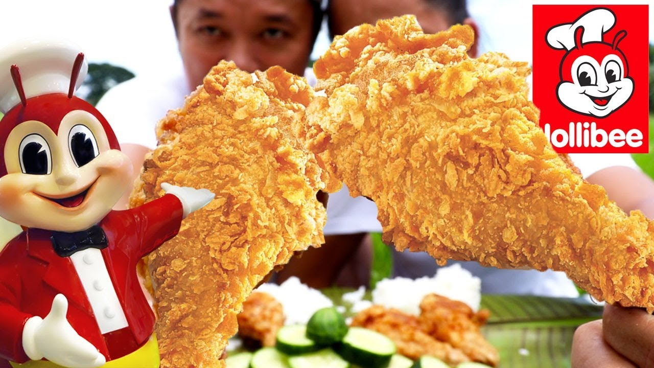 BACKYARD COOKING | JOLLIBEE STYLE FRIED CHICKEN MARK AND MILLER VERSION FRIED | CHICKEN MUKBANG