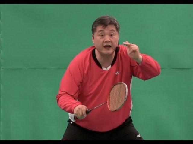 Badminton: Course 46 How to return smash. Lesson 5.How to move your racket to the shuttlecock