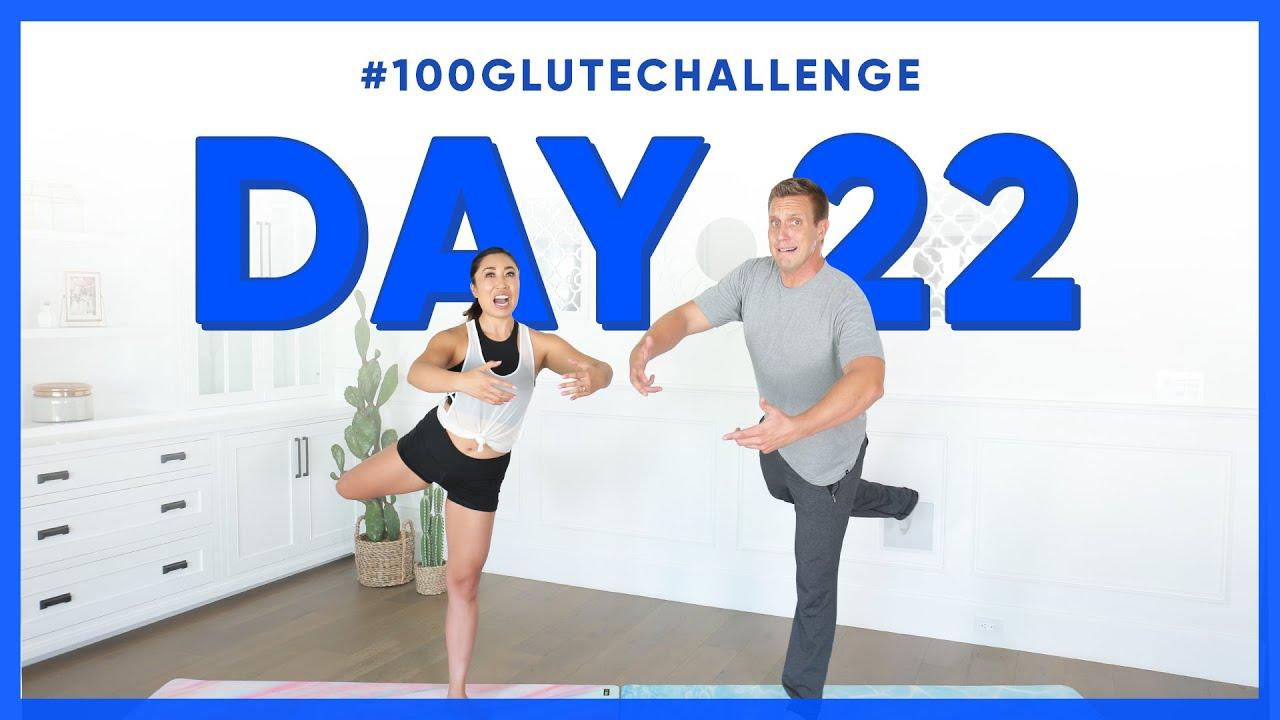 Day 22: Standing Attitude Pulse! | 100 Glute Challenge w/ Rocky Kanaka