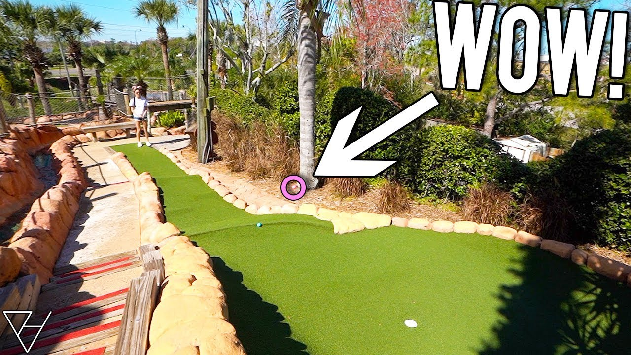 ELISHA HAS NEVER HAD THIS MUCH MINI GOLF LUCK!