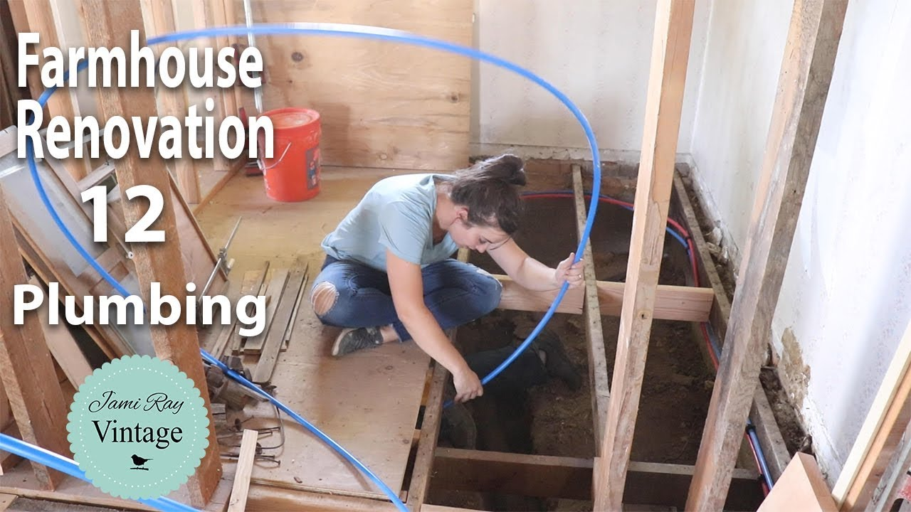 Farmhouse Renovation Episode 12 | Plumbing and Front Porch Repair