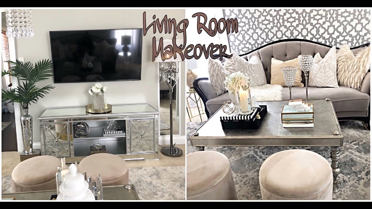 GLAM LIVING ROOM MAKEOVER TOUR 2019! Designer Inspired