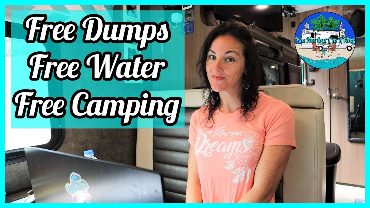 How We Find Free Camping, Free Water, and Free Dump Stations * Full-time RV Living *