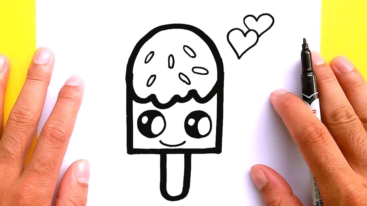 How to draw a Ice cream for Valentine's Day, Draw cute things