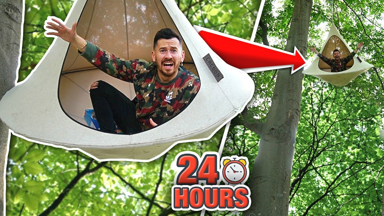 I Spent 24 Hours in a Tree Tent and You Won't Believe What Happened.. (WORLD'S CRAZIEST AI
