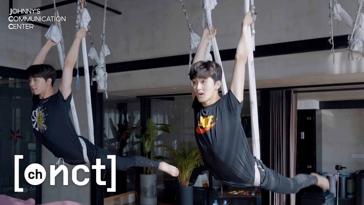 I believe I can fly~ Flying Yoga(Aerial Yoga) with MARK | Johnny's Communication Center (JCC) Ep.1