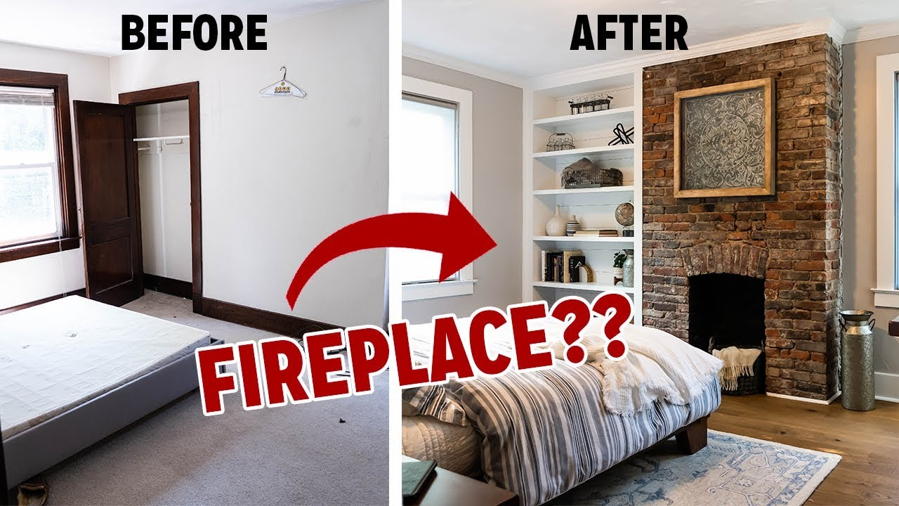 INSANE Bedroom Transformation! I FIND A HIDDEN FIREPLACE!