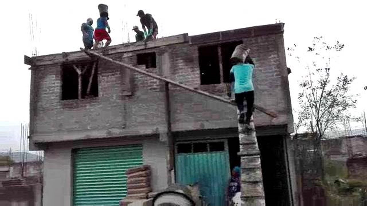 Ingenious construction workers. - Everyone should watch this worker's video.