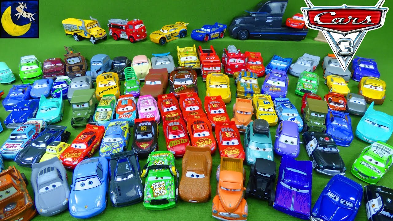 LOTS of Disney Cars 3 Diecast Toys Collection Miss Fritter Jackson Storm Lightning Mcqueen Collector