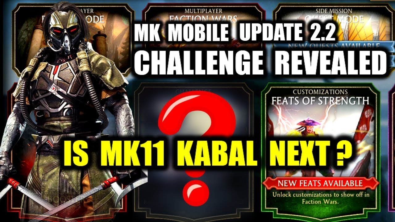 MK Mobile Trick. Revealing Upcoming Challenge. Will It Be MK11 KABAL? MK Mobile 2.2 Update