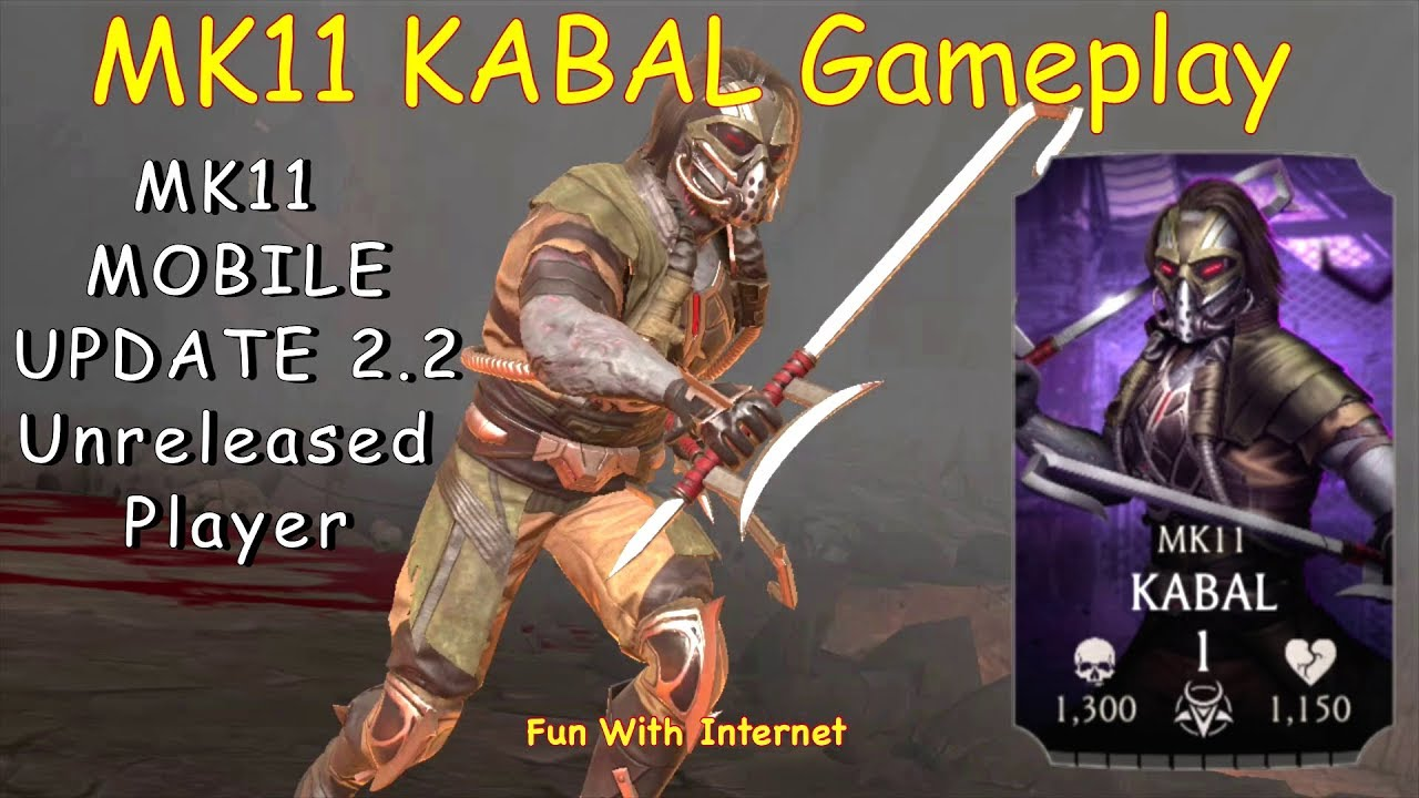 MK Mobile Update 2.2 NEW/Unreleased Character KABAL Preview Gameplay