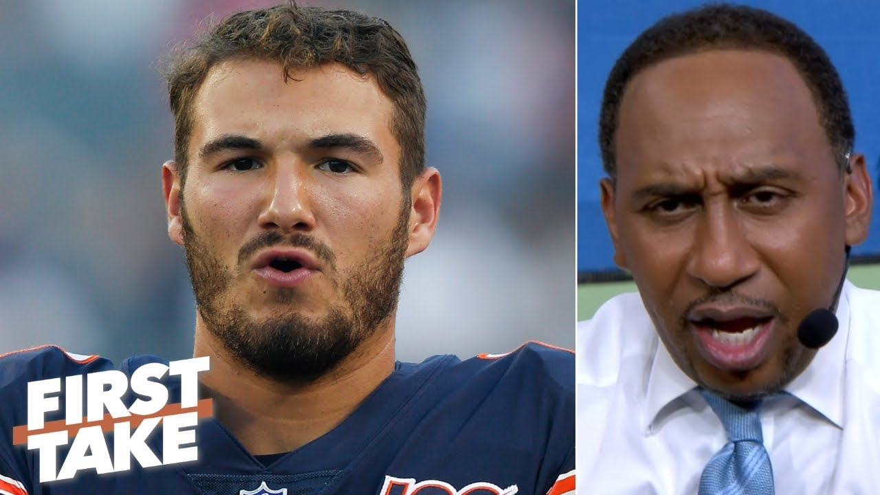 Mitchell Trubisky has 'got to show up and show out' for the Bears - Stephen A. | First Tak