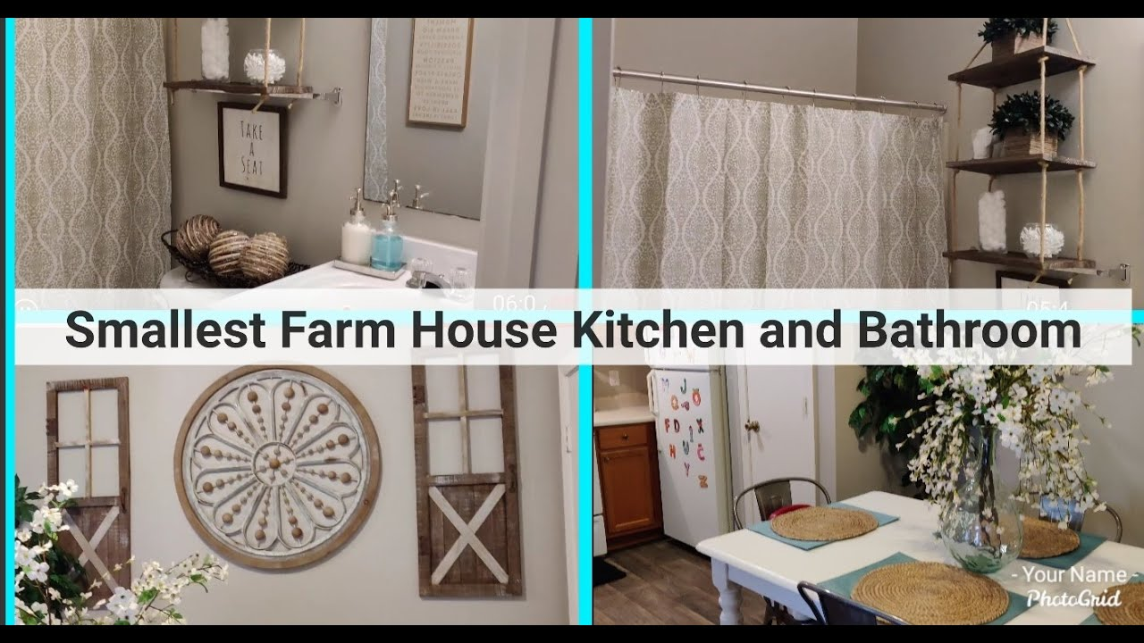 SMALLEST FARMHOUSE STYLE KITCHEN AND BATHROOM ON A BUDGET