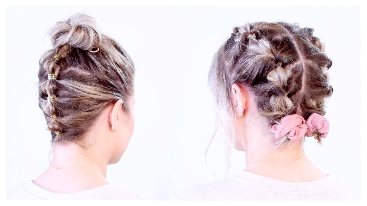 SUPER CUTE UPDOS FOR SHORT HAIR | Milabu