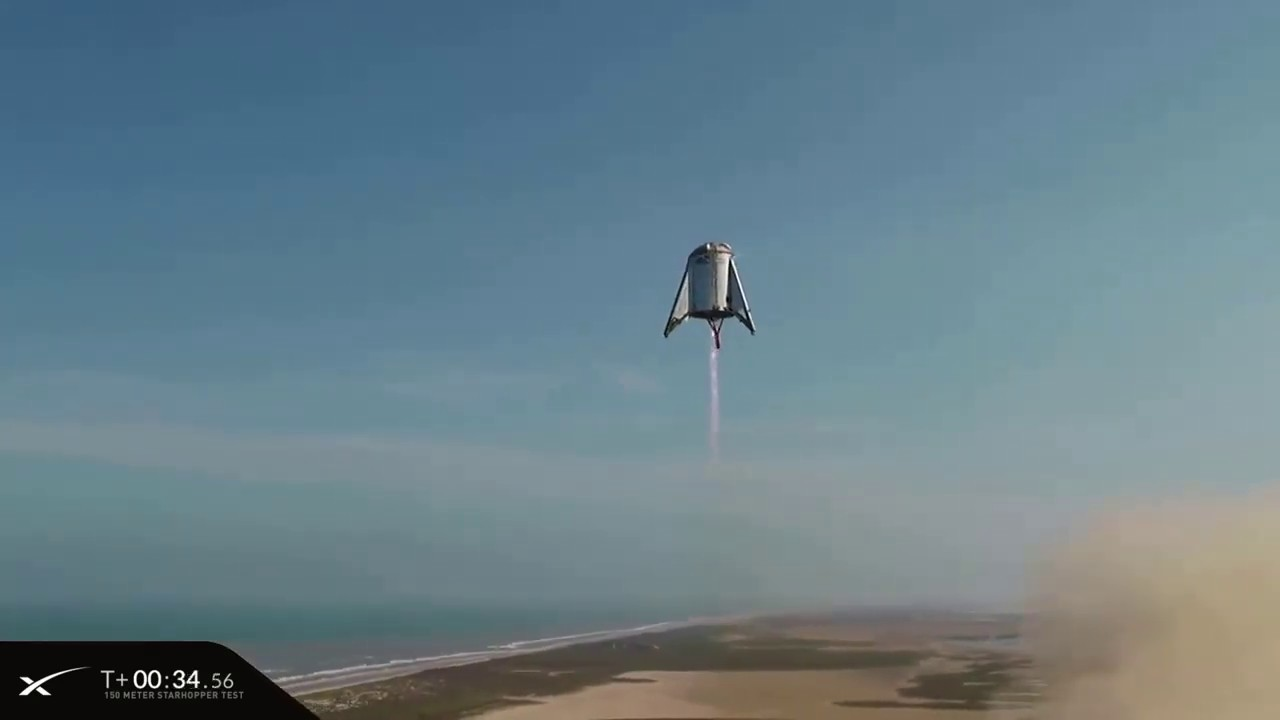 SpaceX Starhopper Launches on 500-Foot Test Flight