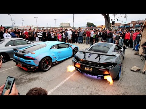 Street Racers TAKEOVER Fancy Car Meet!
