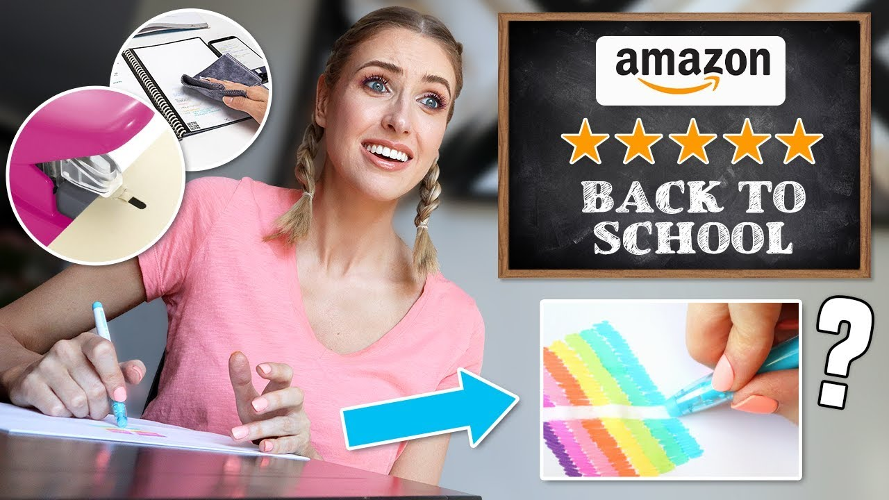 Testing 5 STAR RATED SCHOOL SUPPLIES from AMAZON...