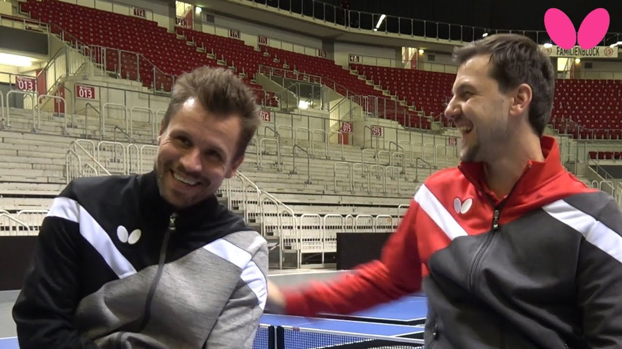 Timo Boll and Michael Maze Interview Each Other! | Butterfly Table Tennis