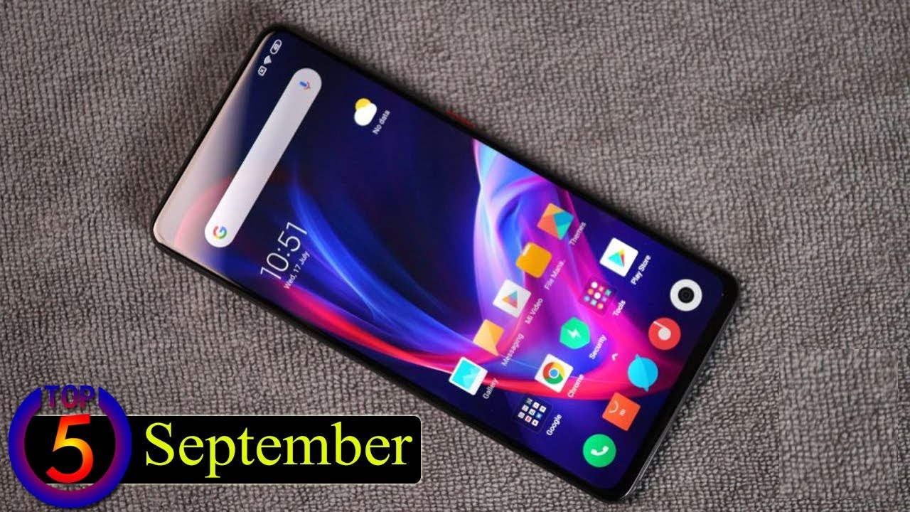 Top 5 UpComing Mobiles in September 2019 ! Price & Launch Date in india