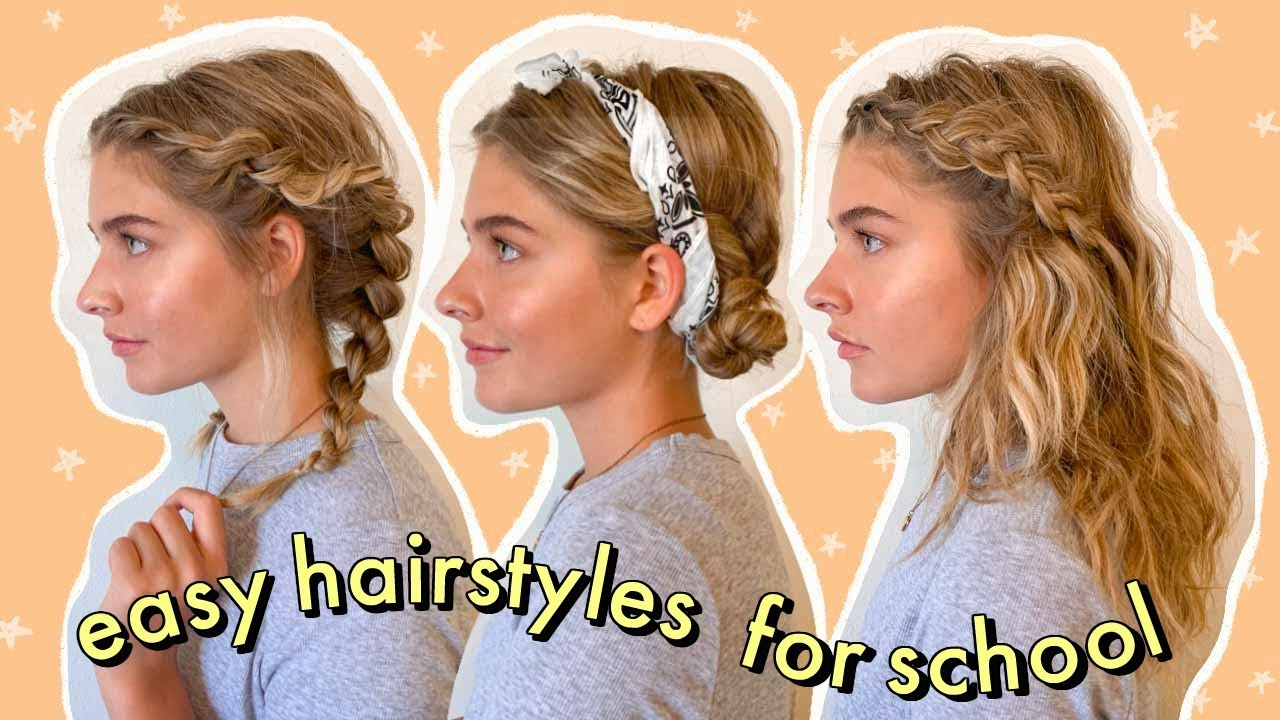 easy + heatless hairstyles for school!