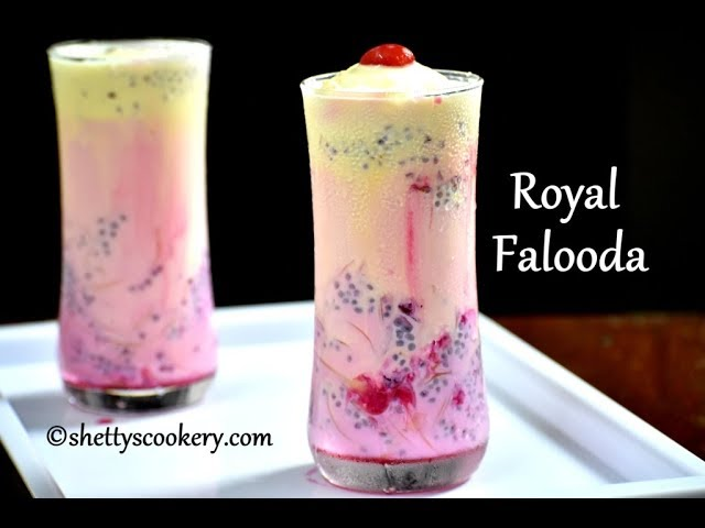 royal falooda recipe | summer desserts recipes | Falooda recipe